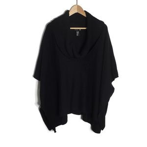 H&M pull on cowl neck poncho